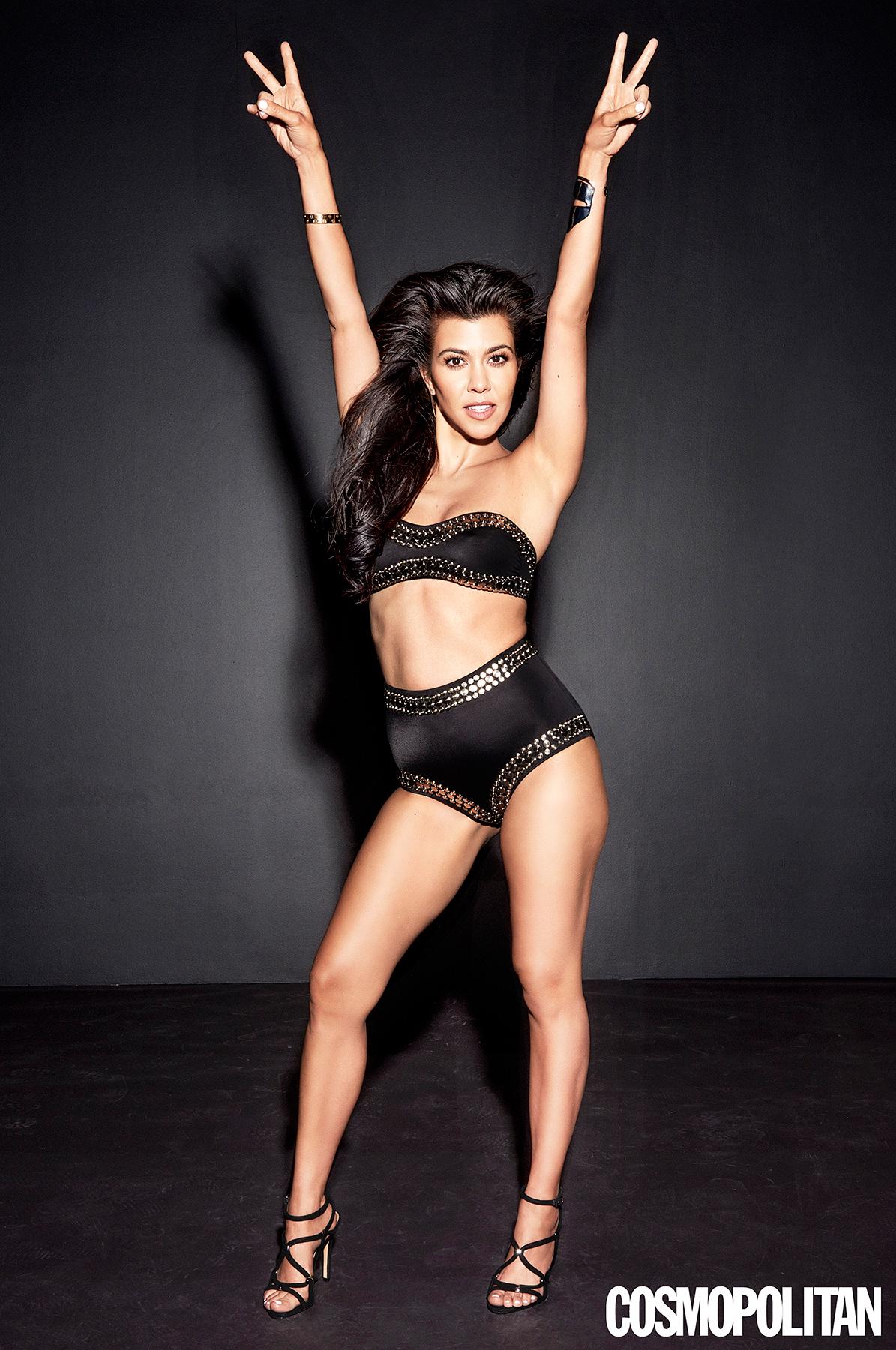Kourtney Kardashian in Cosmopolitan