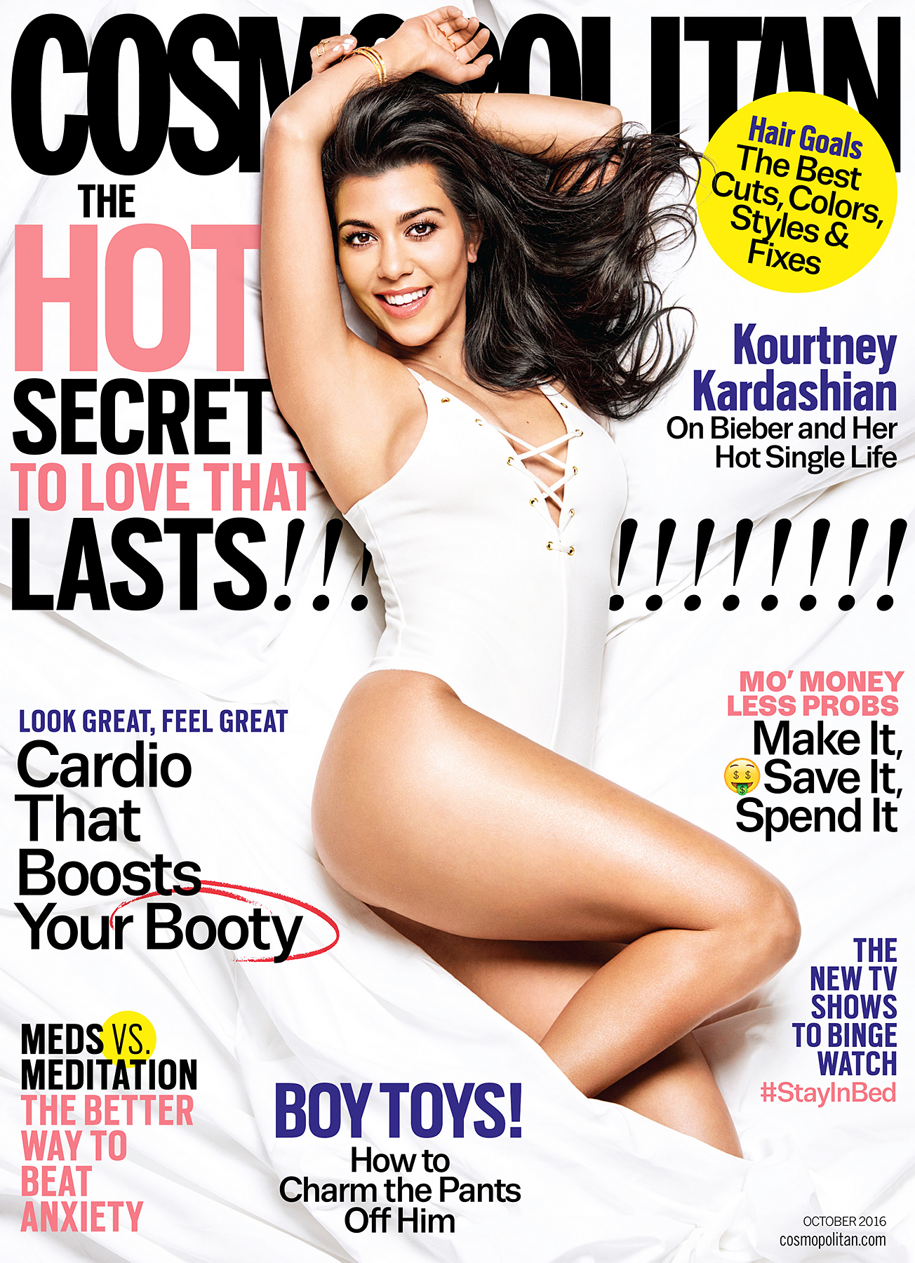 Kourtney Kardashian on Cosmopolitan cover