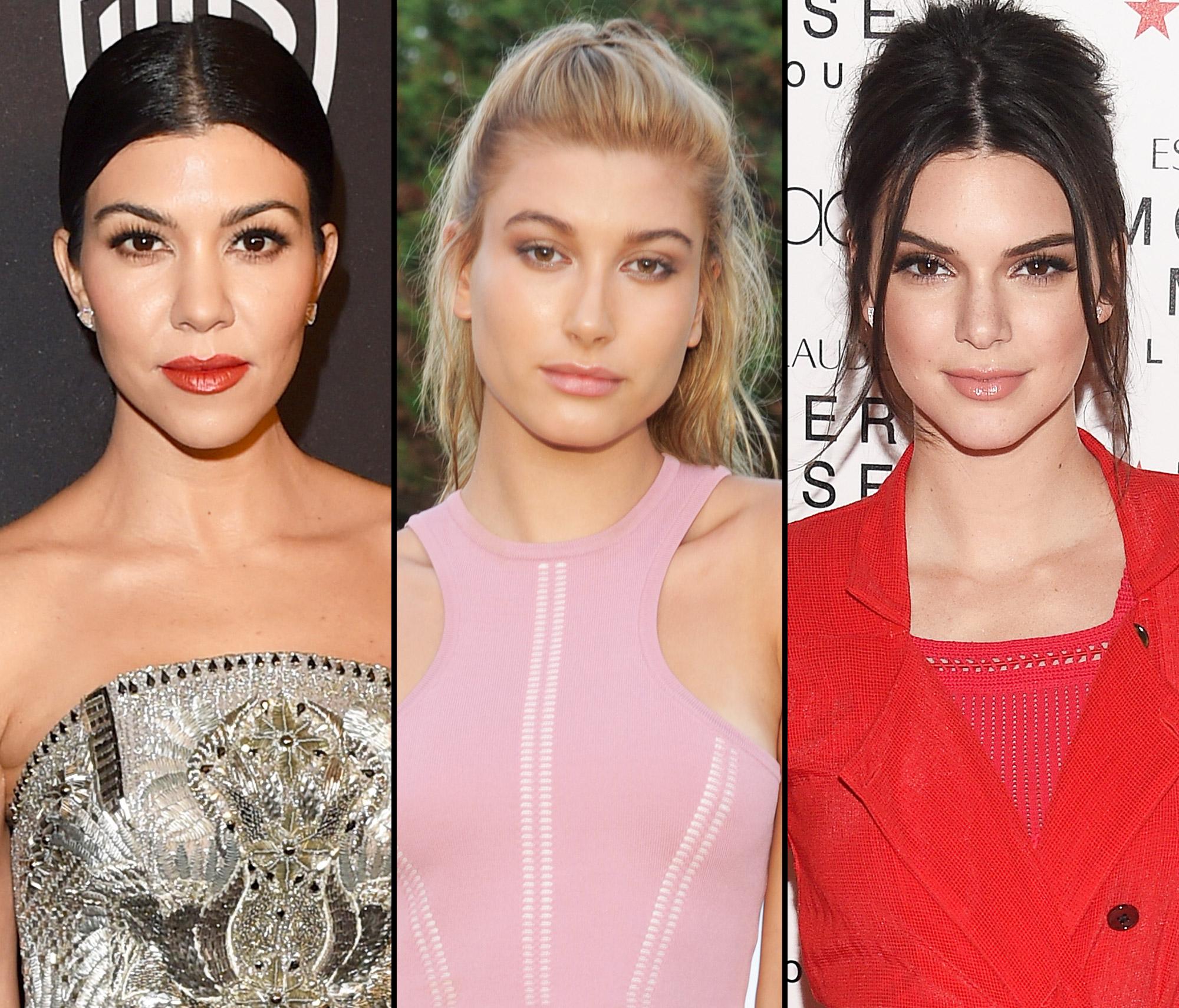 Kourtney Kardashian, Hailey Baldwin and Kendall Jenner