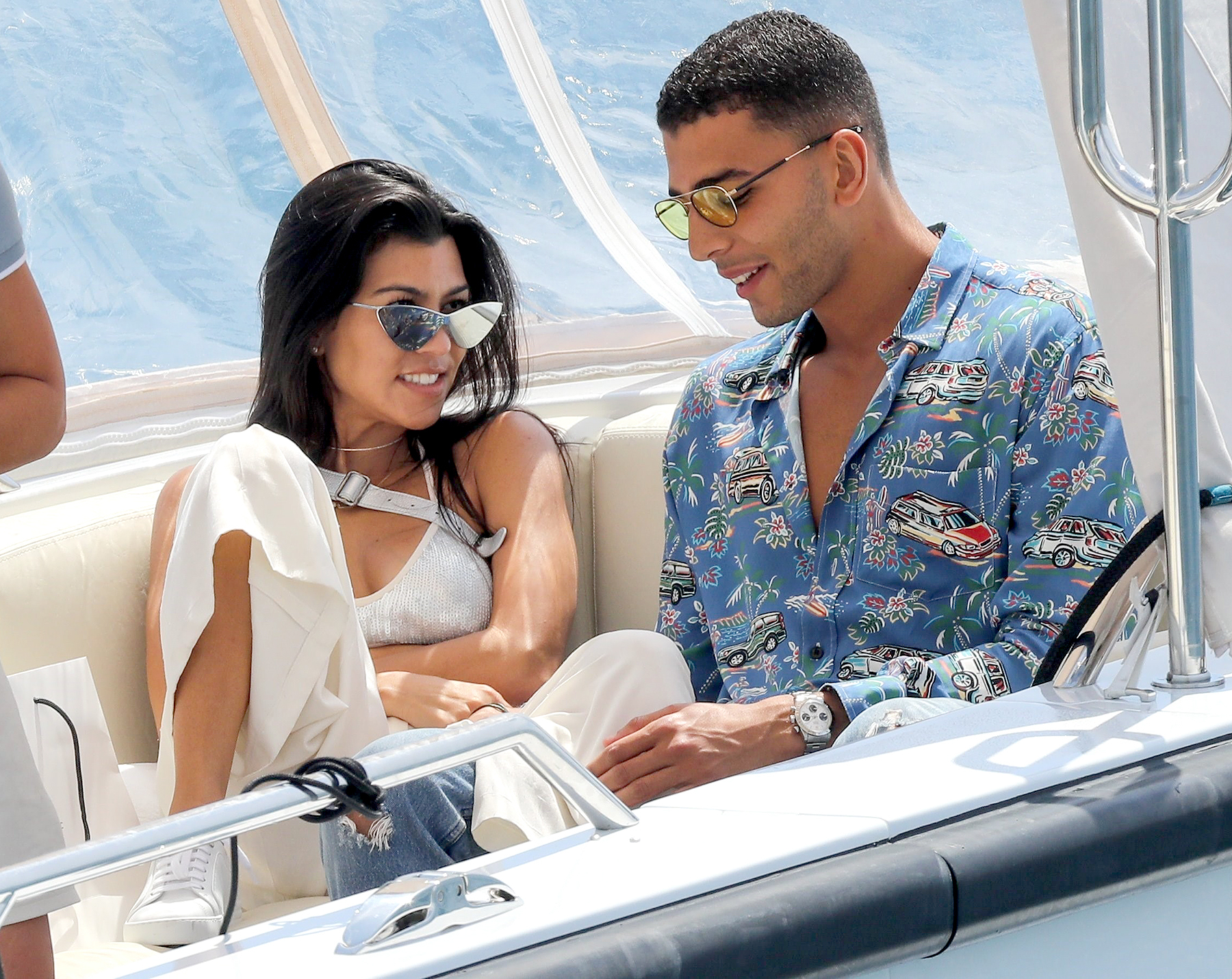 Kourtney Kardashian and Younes Bendjima's Sexy Romance in Pictures in Cannes.