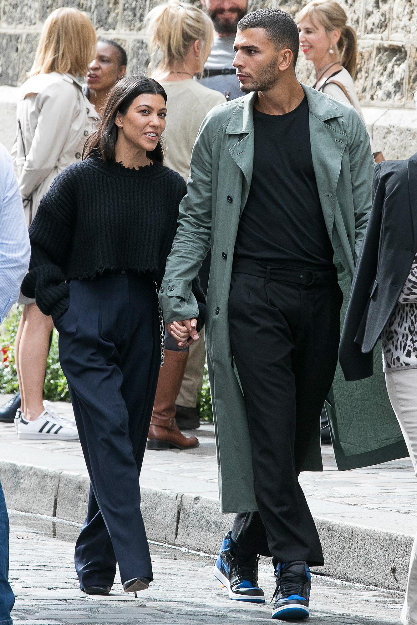 Kourtney Kardashian, Younes Bendjima, Paris Fashion Week