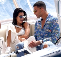 Kourtney Kardashian and Younes Bendjima seen at the Hotel du Cap-Eden-Roc in Antibes. 24 May 2017
