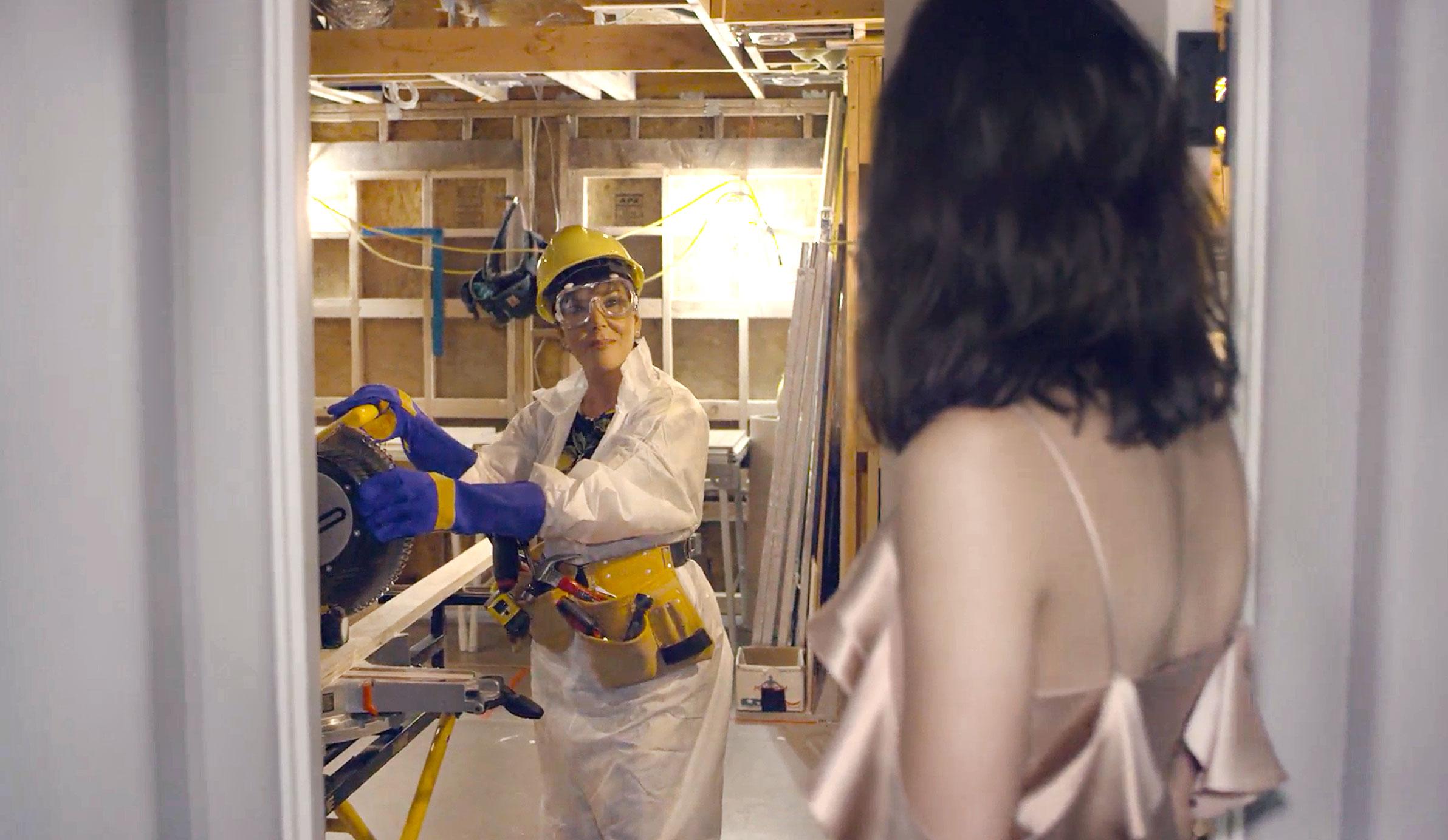 Kendall Jenner Walks In On Her Mom, Kris, Renovating Her Old Bedroom.  Courtesy Vogue