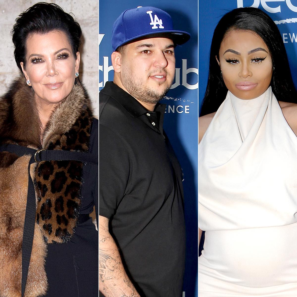 Kris Jenner, Rob Kardashian, and Blac Chyna
