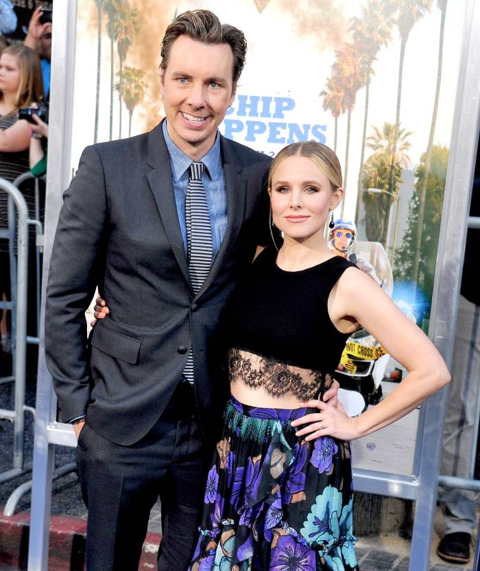 """Dax Shepard and Kristen Bell arrive at the premiere of Warner Bros. Pictures' """"CHiPS"""" at TCL Chinese Theatre on March 20, 2017 in Hollywood, California."""