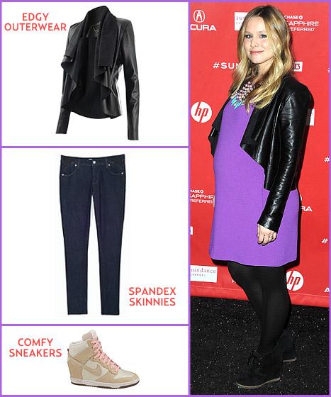 Kristen Bell pregnancy style