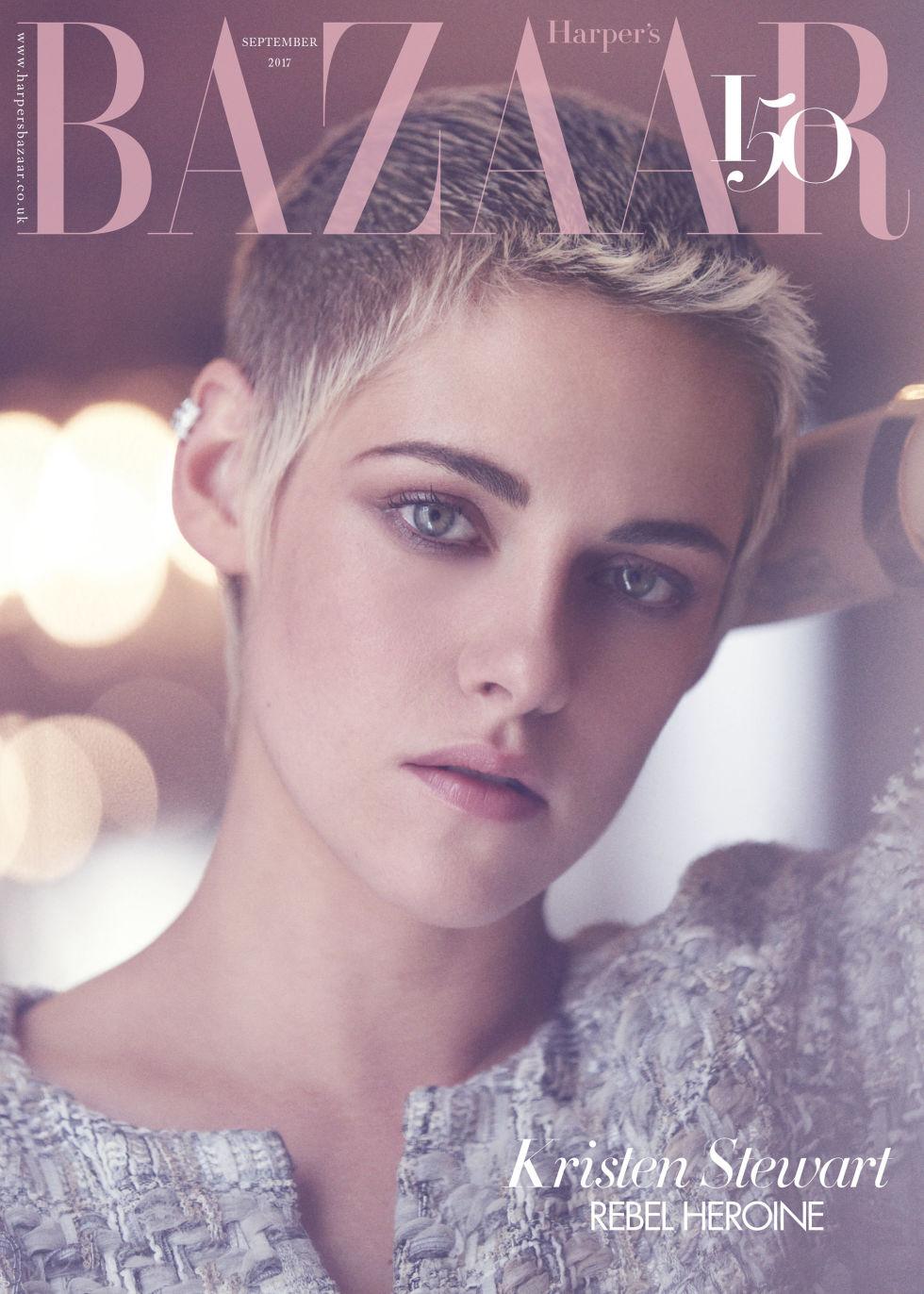 Kristen wears Chanel on the subscriber's cover of 'Harper's Bazaar U.K.'