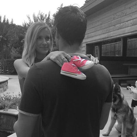 Kristin Cavallari and Jay Cutler having a girl