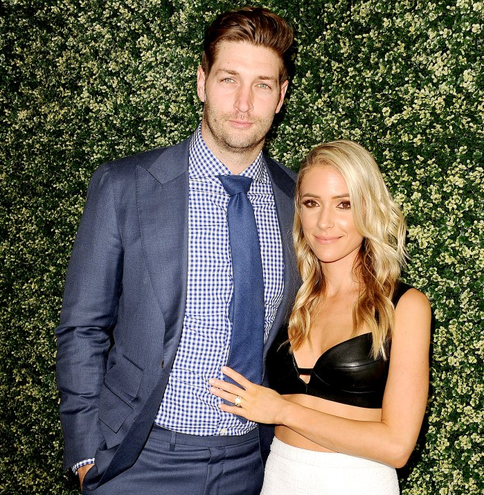 """Jay Cutler and Kristin Cavallari attend the launch event for """"Uncommon James"""" at Fig & Olive on April 27, 2017 in West Hollywood, California."""