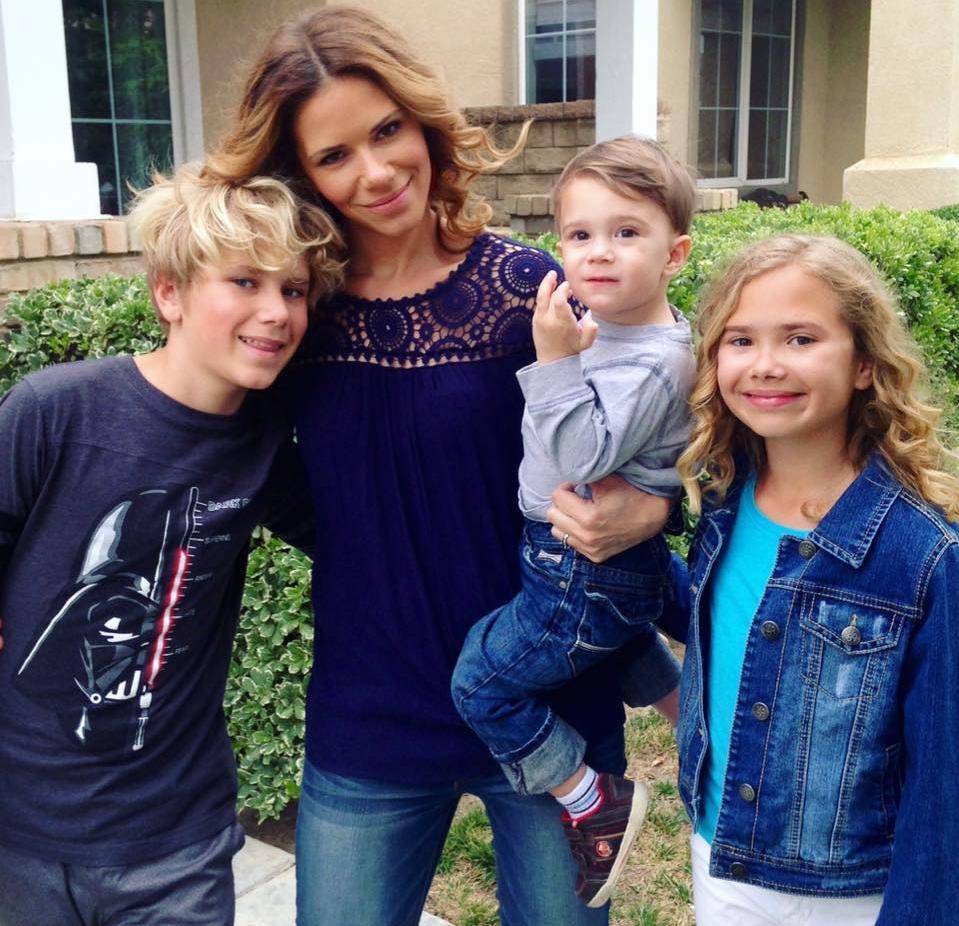 Kristina Kuzmic and her kids