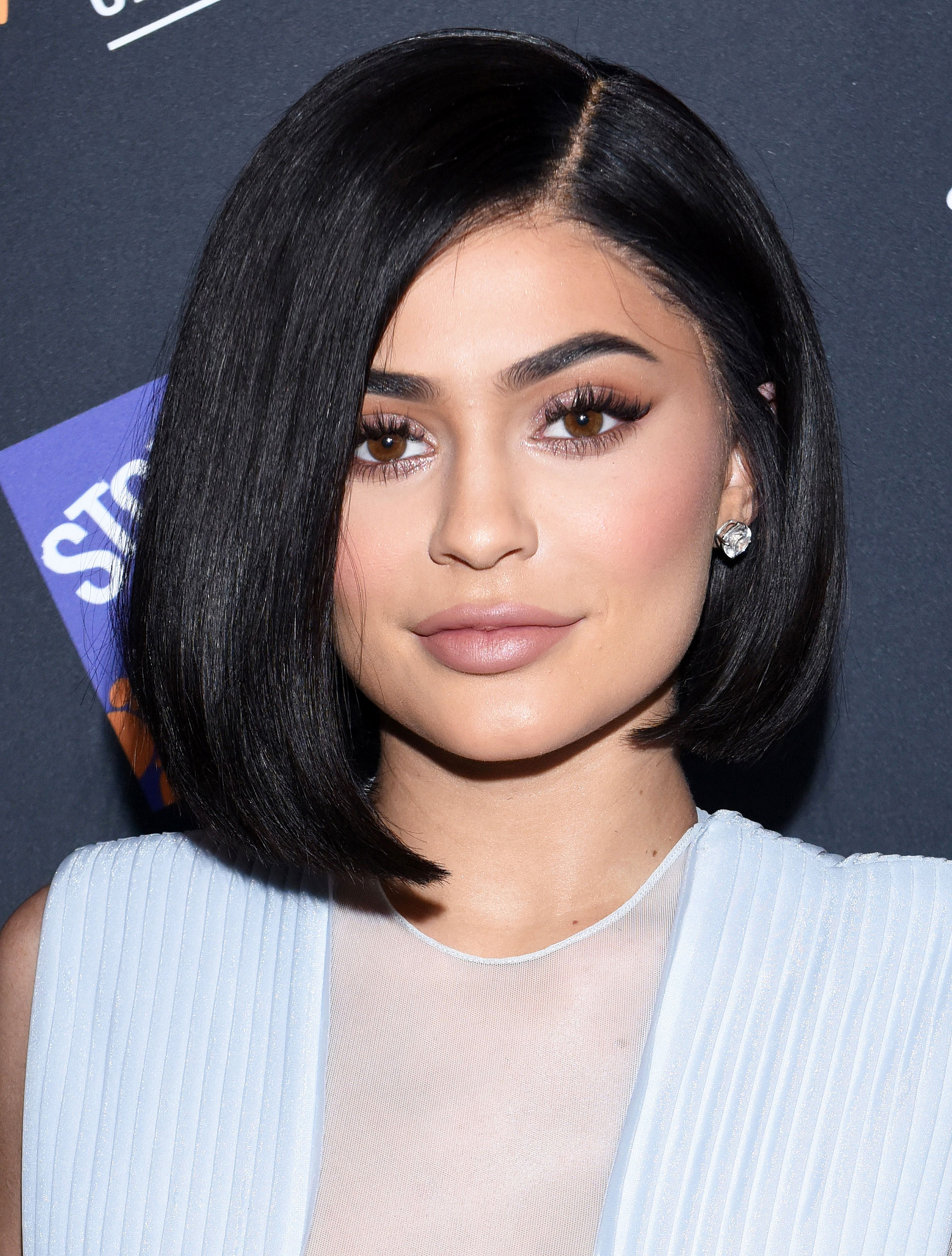 Kylie Jenner Rocks A Black Bob Hairstyle On The Red Carpet