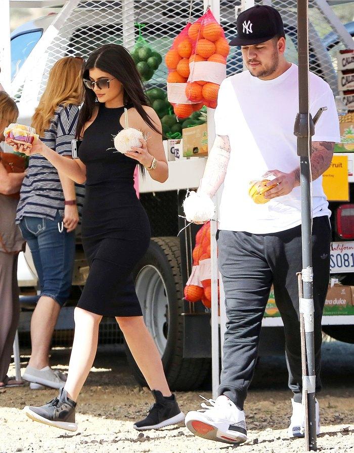Kylie Jenner and Rob Kardashian