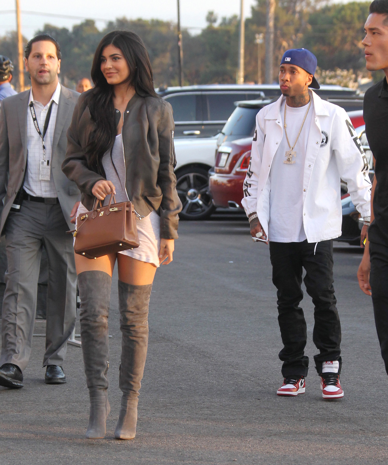 Tyga and Kylie Jenner were spotted holding hands at Kanye West's 'Famous' premiere
