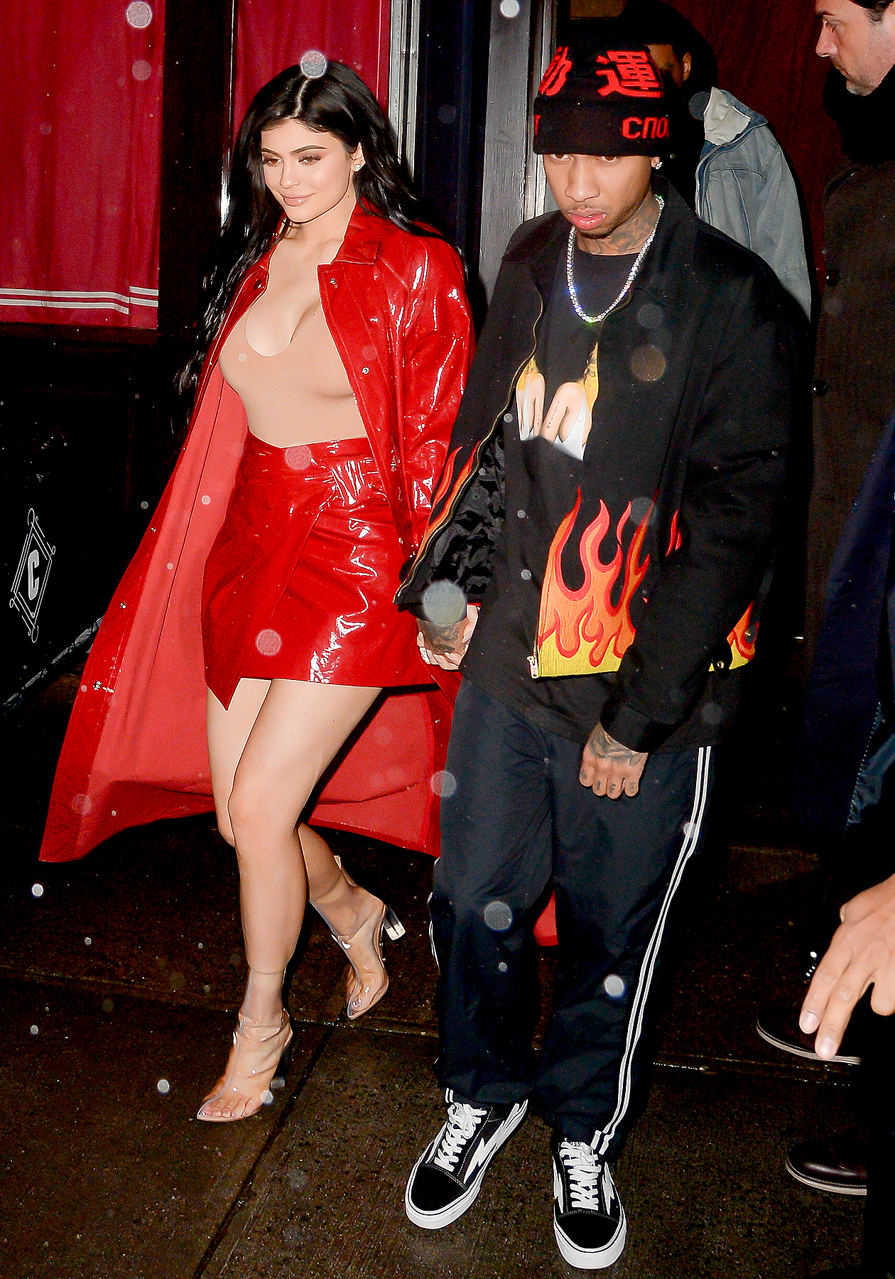 Kylie Jenner and Tyga are seen on January 17, 2017 in New York City.