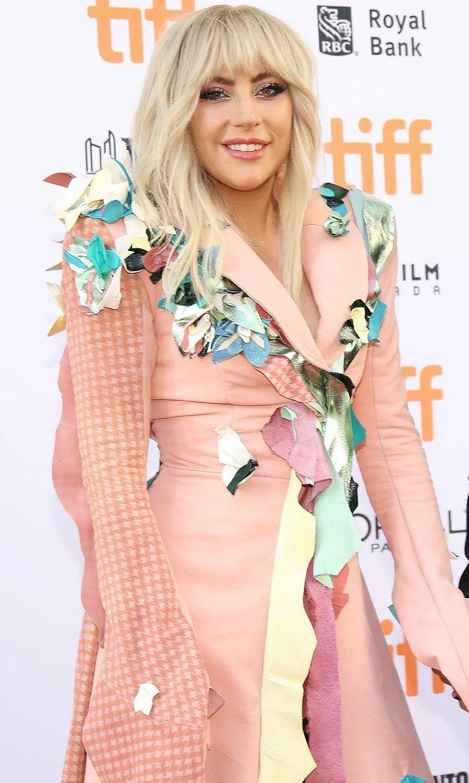 Lady Gaga Wears a Coat of Many  Things at the Gaga