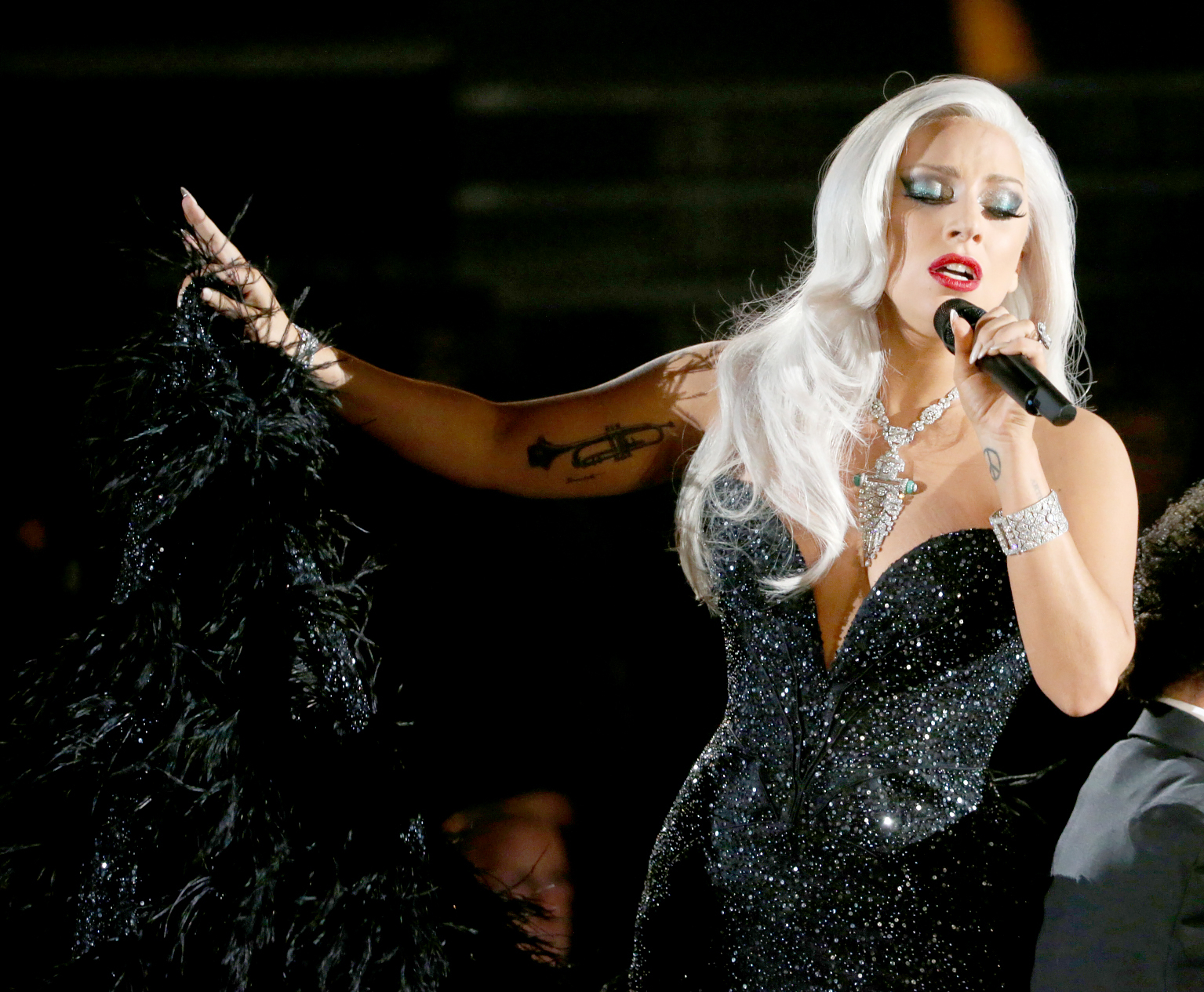 Lady Gaga performs during The 57th Annual Grammy Awards in 2015.