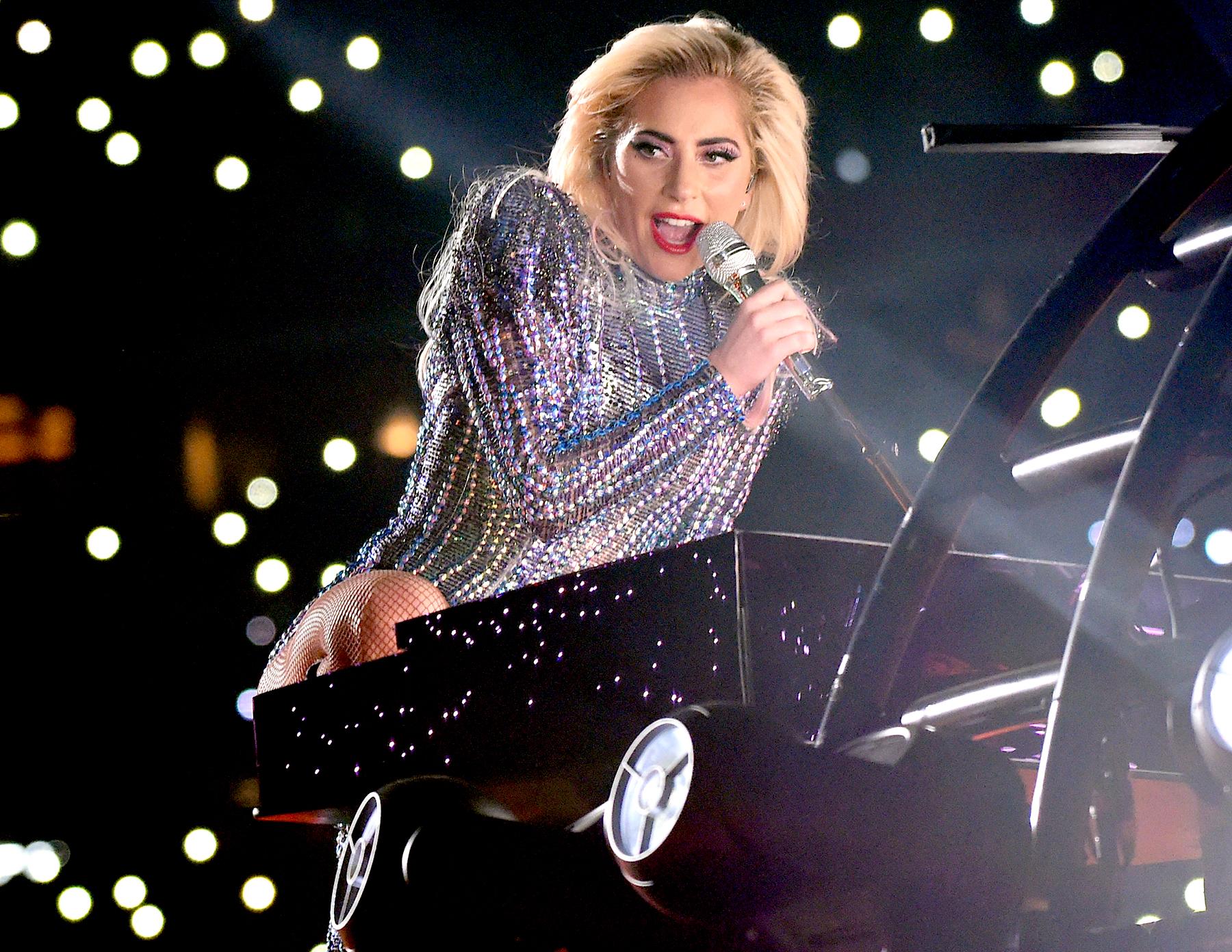 Lady Gaga performs on stage during the Pepsi Zero Sugar Super Bowl LI Halftime Show at NRG Stadium on Feb. 5, 2017, in Houston.