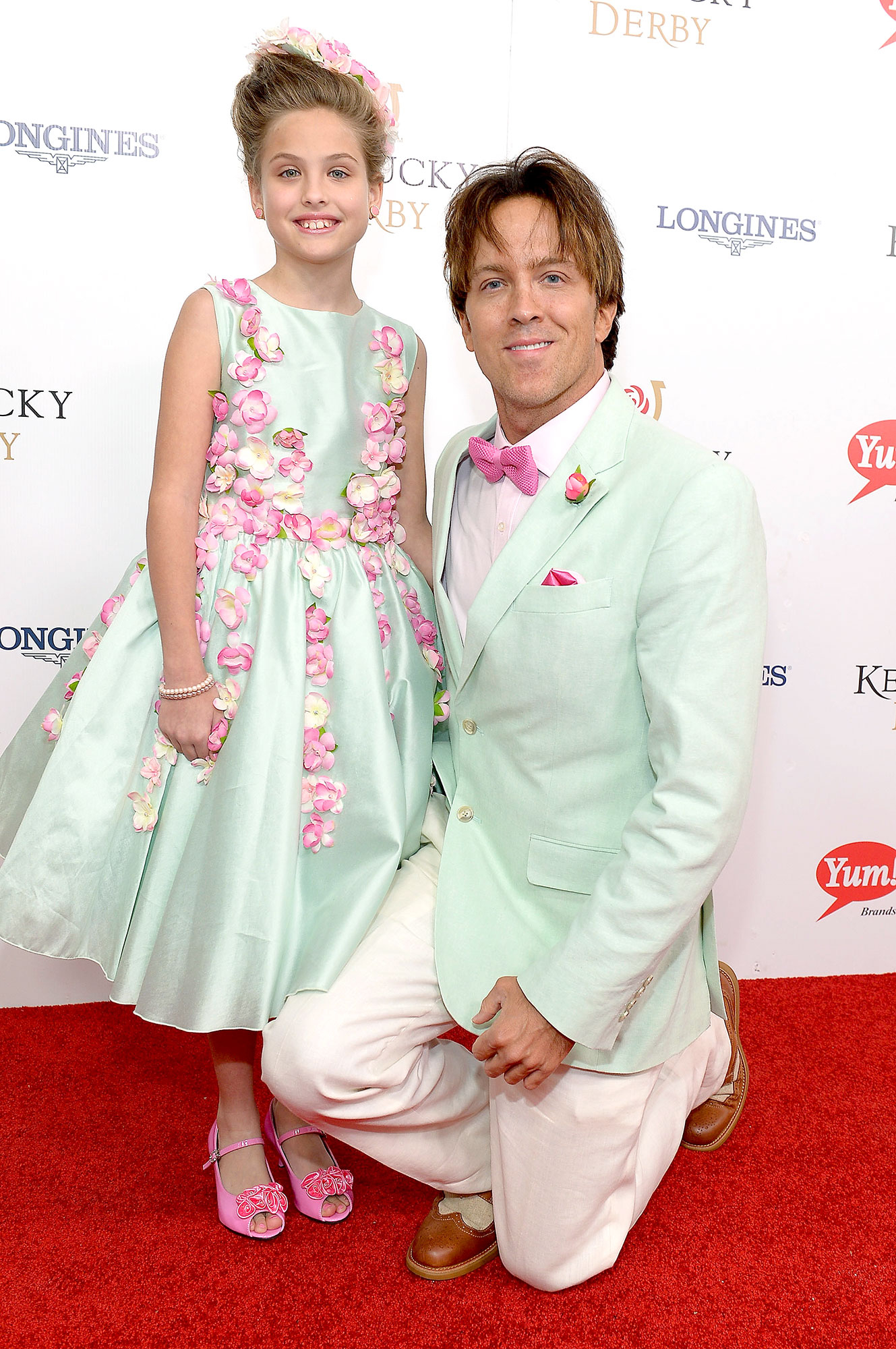 Dannielynn Birkhead (L) and former model Larry Birkhead attend the 142nd Kentucky Derby at Churchill Downs on May 07, 2016 in Louisville, Kentucky.