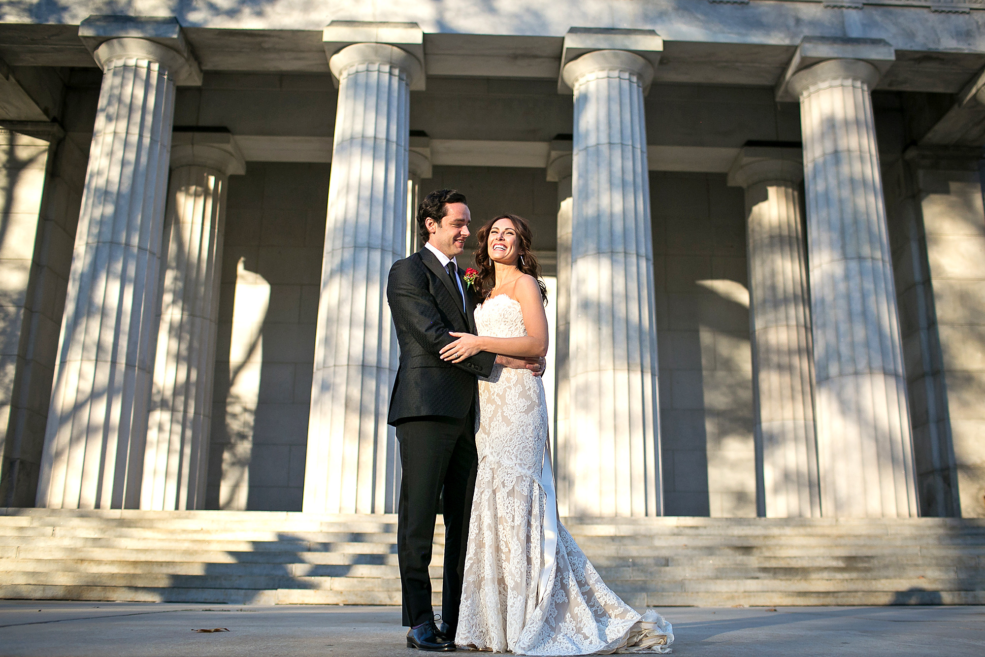 Laura Benanti Stuns on Her Wedding Day in a Lace Dress