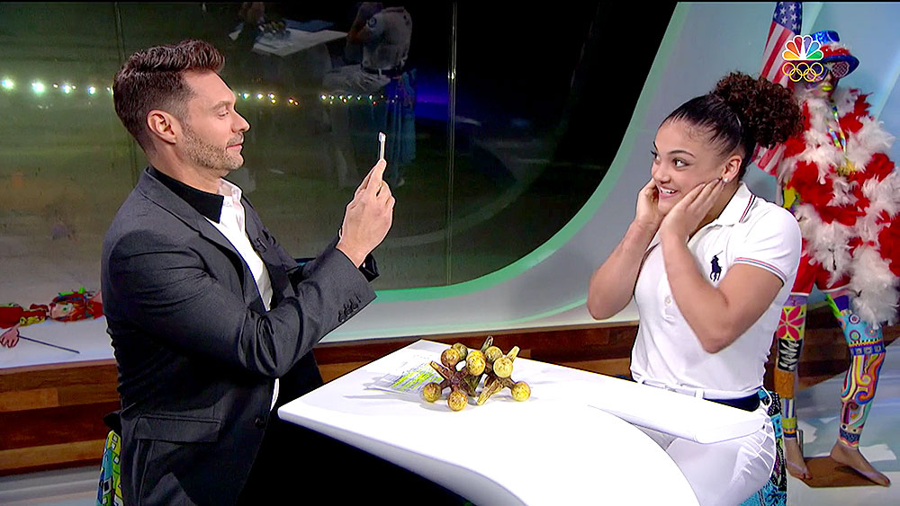 Ryan Seacrest and Laurie Hernandez