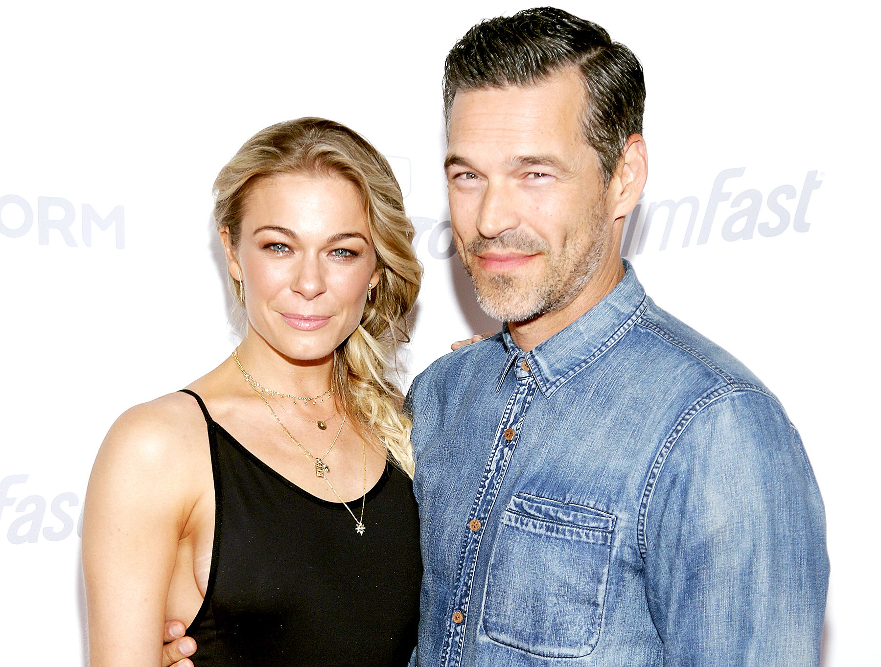 LeAnn Rimes and Eddie Cibrian attend the OK! Magazine's Summer Kick-Off party at W Hollywood on May 17, 2017 in Hollywood, California.