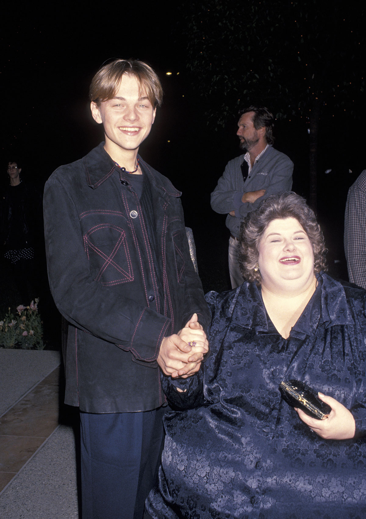 Leonardo DiCaprio and Darlene Cates at the 1993 Premiere of their movie