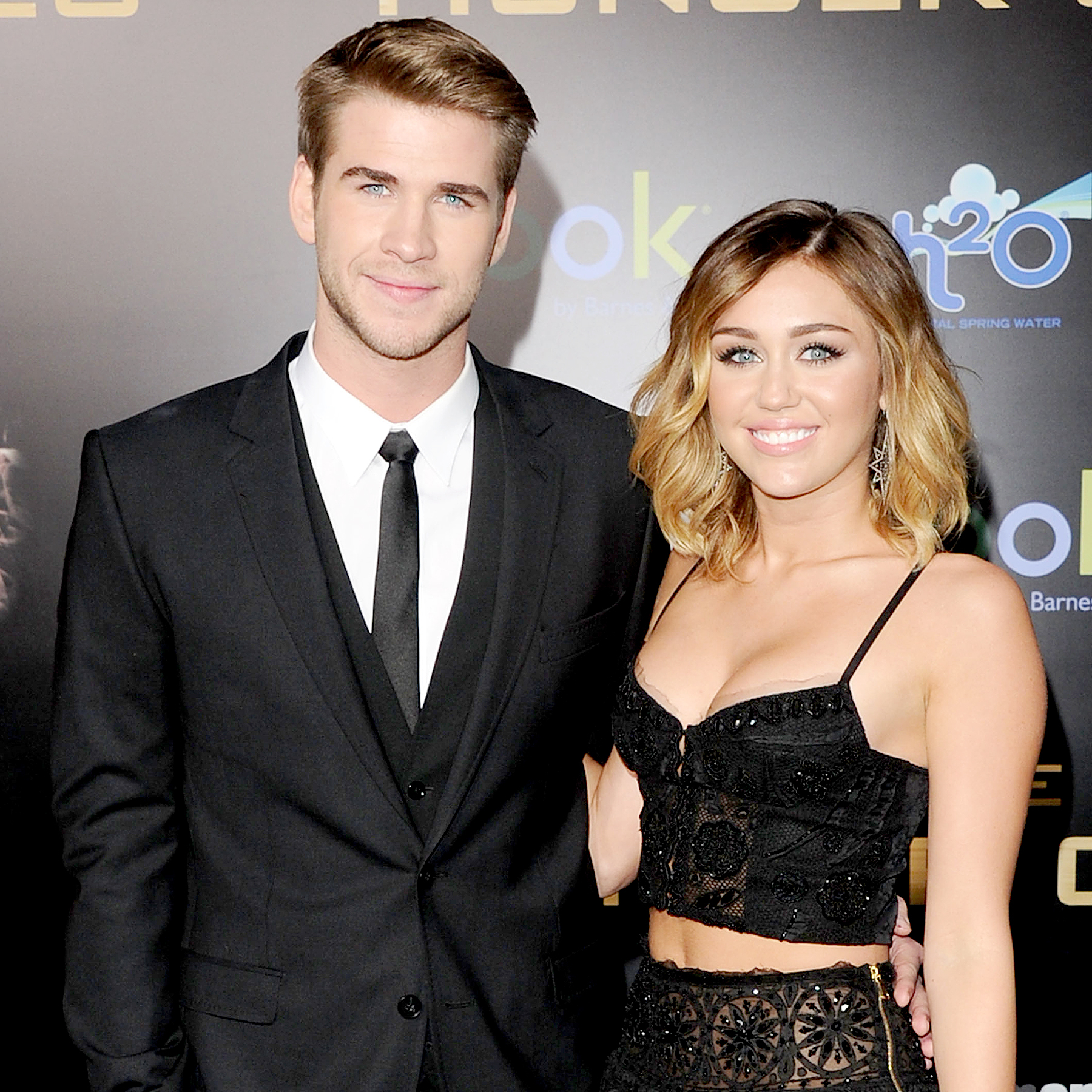 Liam Hemsworth and Miley Cyrus arrive at the premiere of Lionsgate's 'The Hunger Games' in 2012.