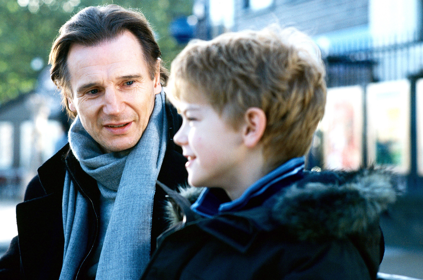 Liam Neeson Thomas Sangster Love Actually