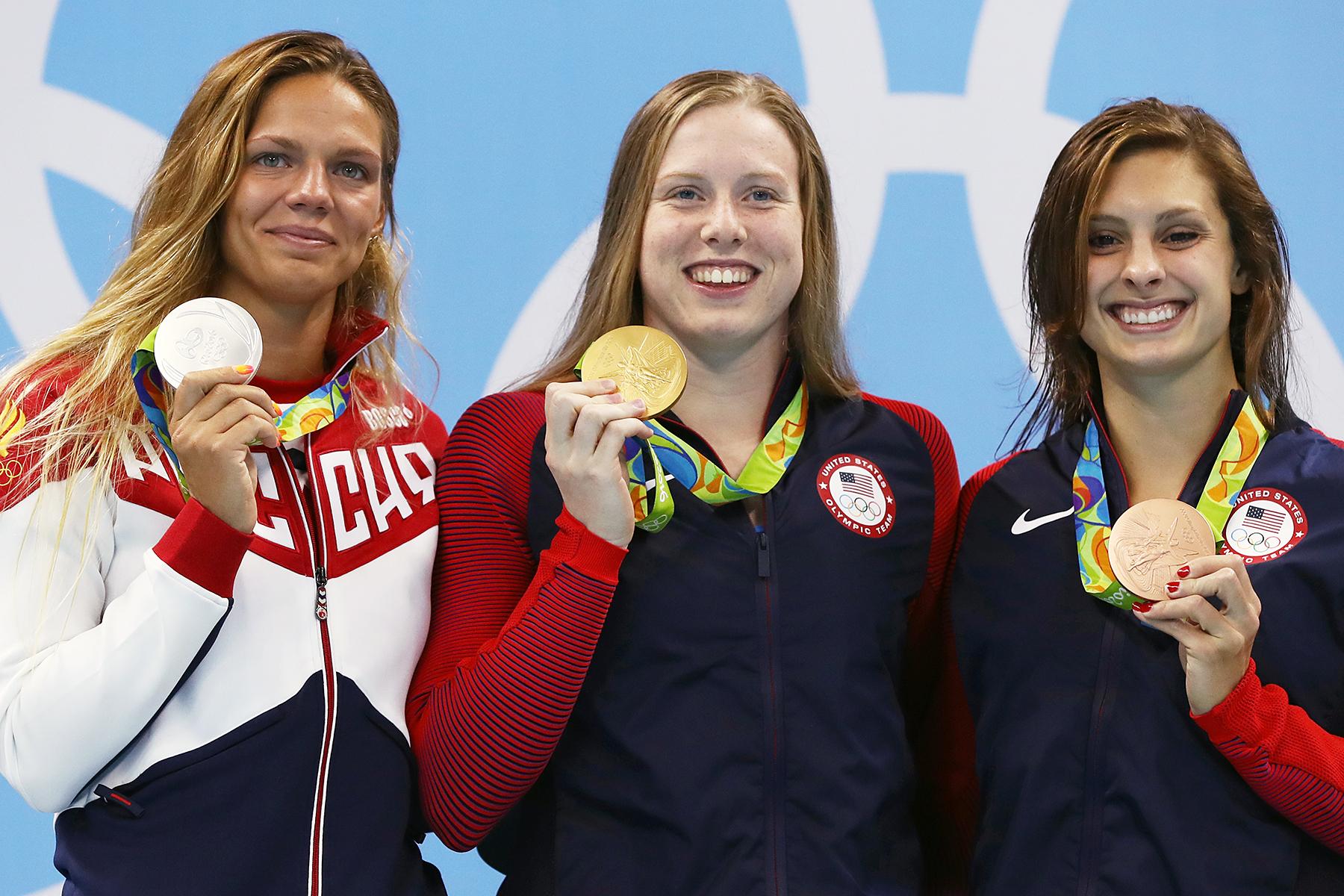 Yulia Efimova Lilly King Katie Meili Rio Olympics
