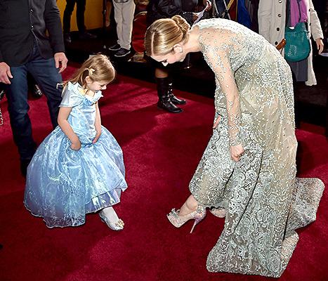 Lily James - Cinderella premiere (kid shot)