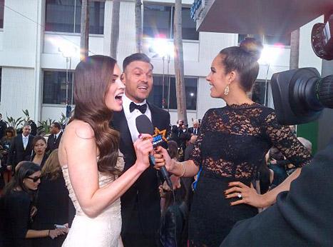 Louise Roe interviewing Megan Fox
