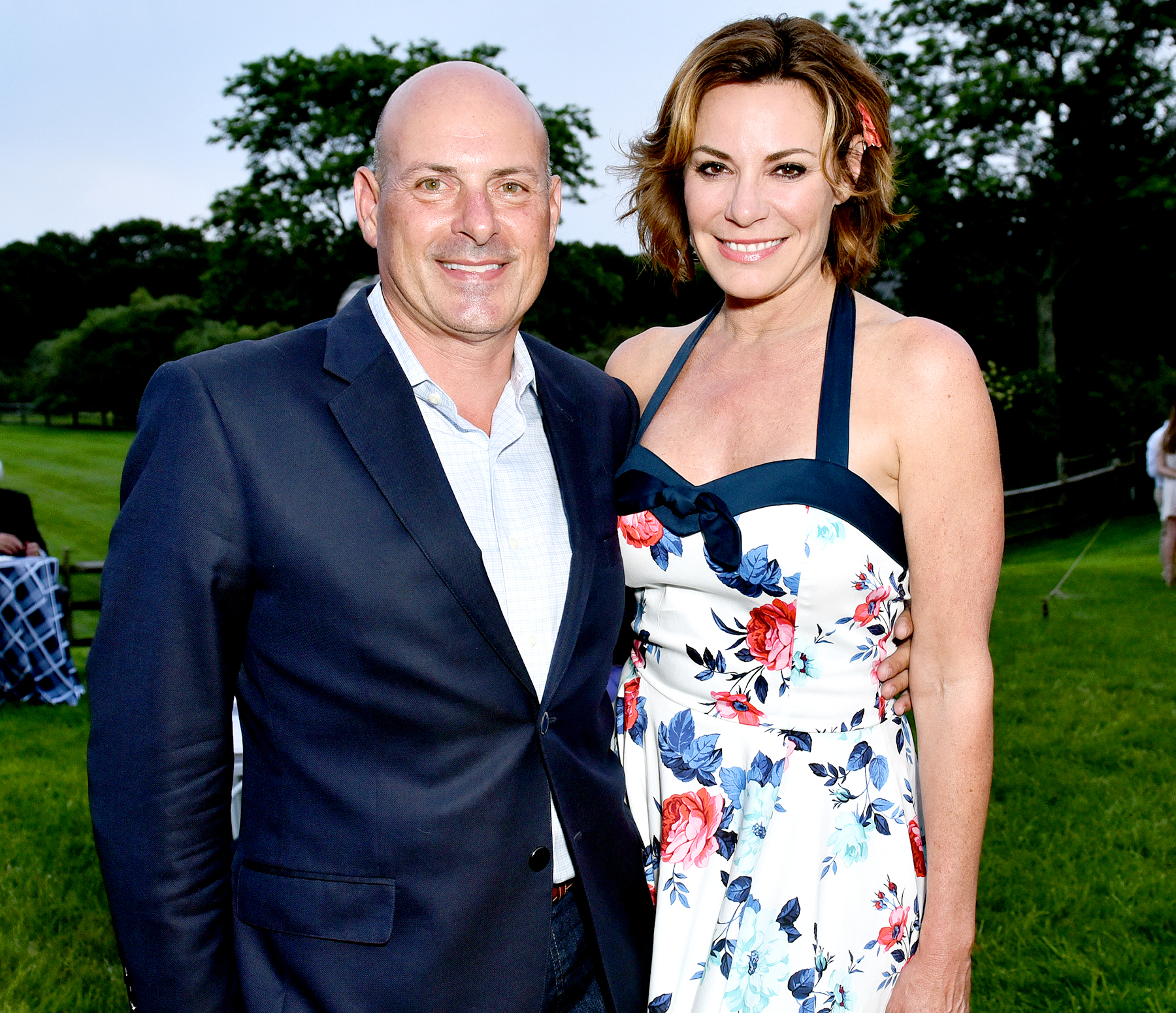 Luann de Lesseps and Tom D' Agostino attend the Alzheimer's Association Hosts Rita Hayworth Gala Hamptons Kickoff Event in Water Mill, New York, on July 28, 2017.