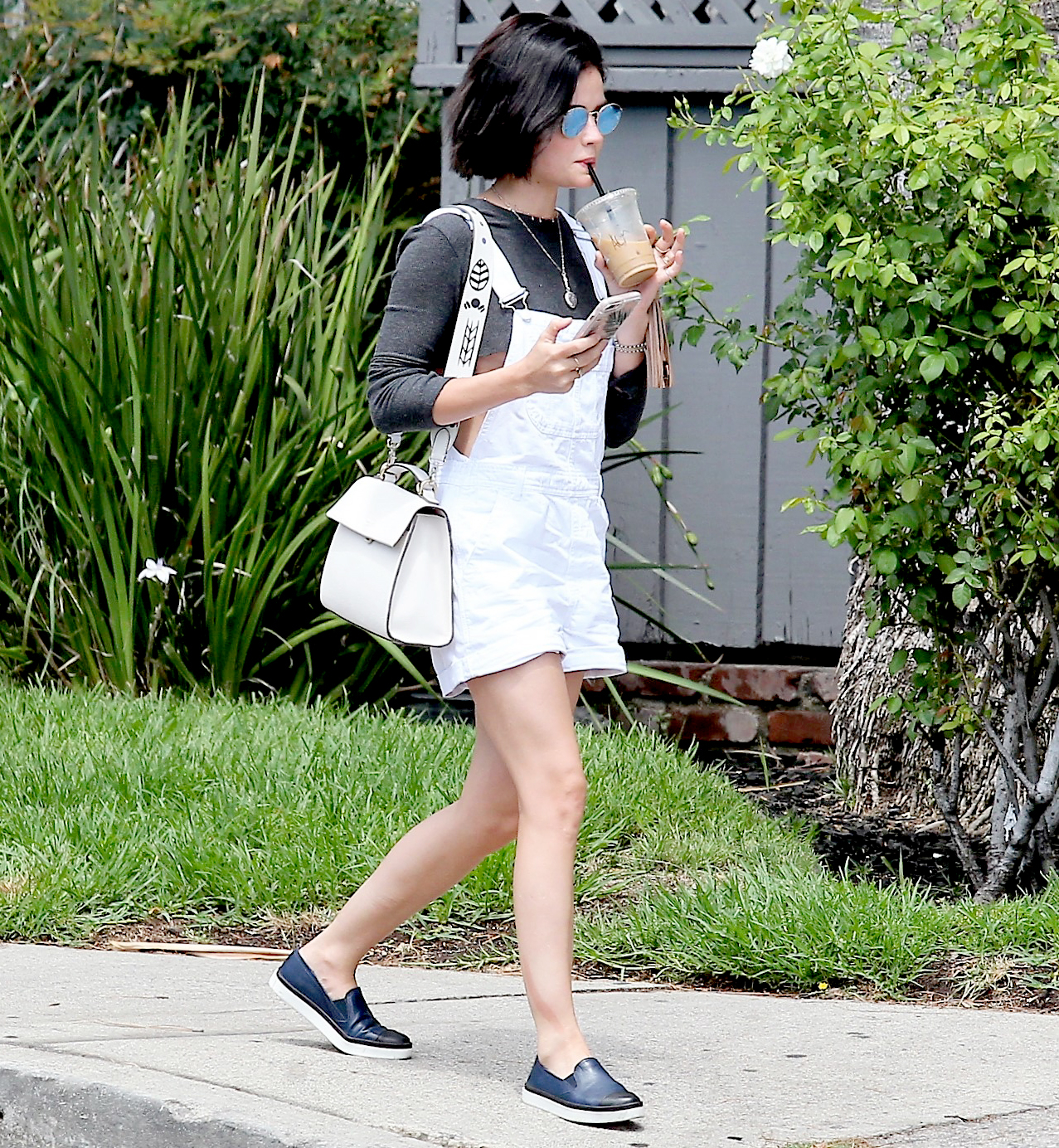 Lucy Hale shops in Studio City on July 25, 2017.