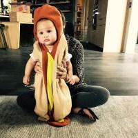 Luna hotdog Chrissy Teigen John Legend
