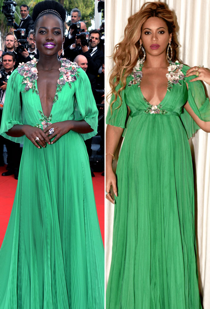 880be7677b0 WWIB Face-Off  Beyonce Wears Same Gucci Gown as Lupita Nyong o