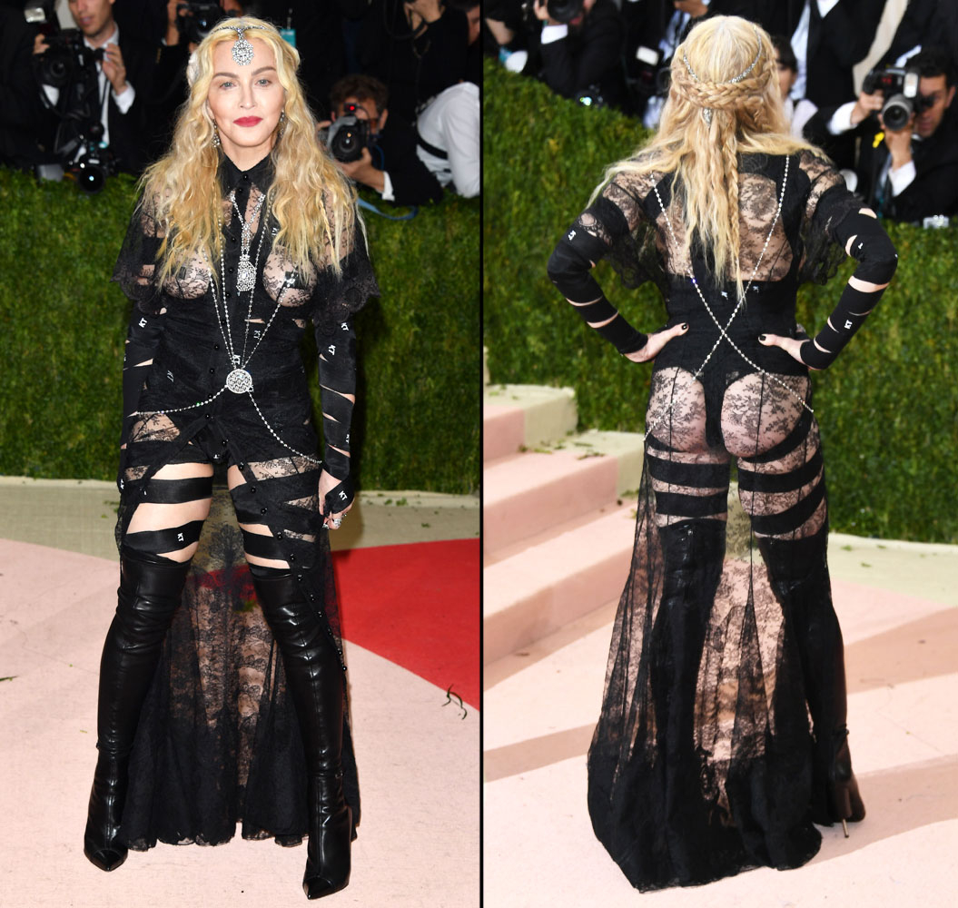 Madonna - In Givenchy by Riccardo Tisci.