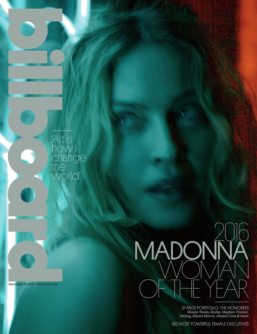 Madonna Billboard cover