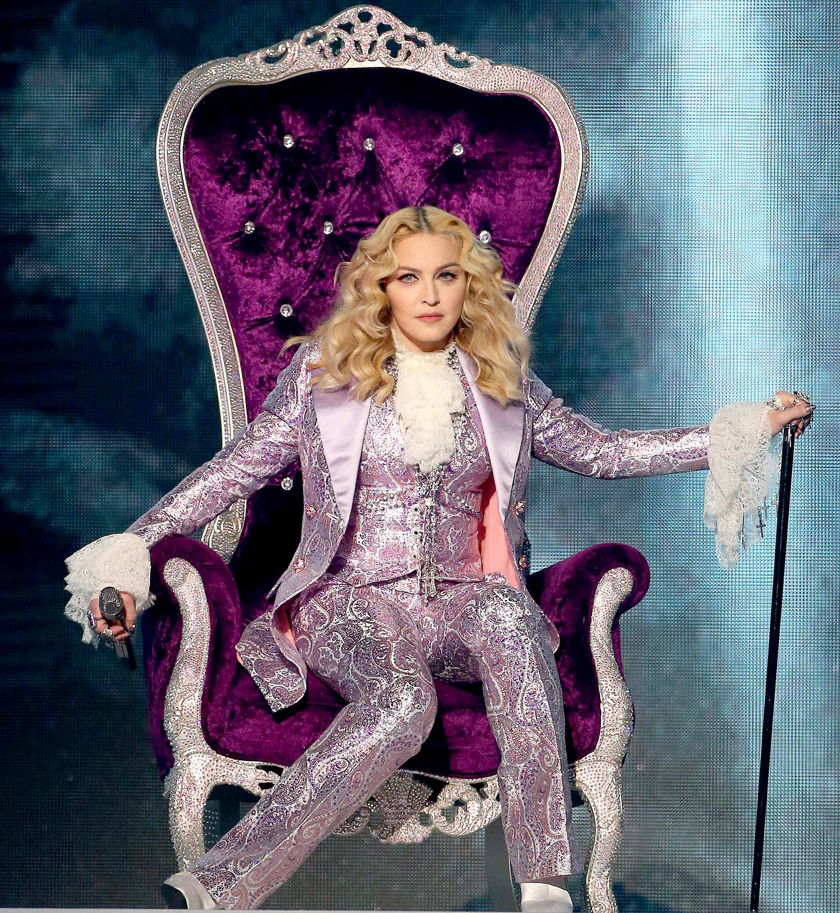 Madonna is seen on stage during the 2016 Billboard Music Awards.