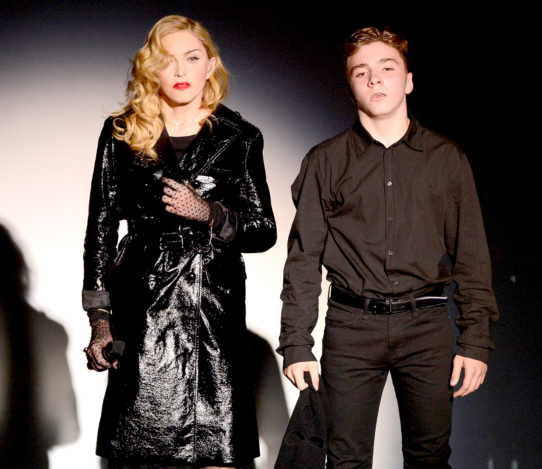 Madonna and Rocco Ritchie perform during Madonna and Steven Klein secretprojectrevolution at the Gagosian Gallery on September 24, 2013.