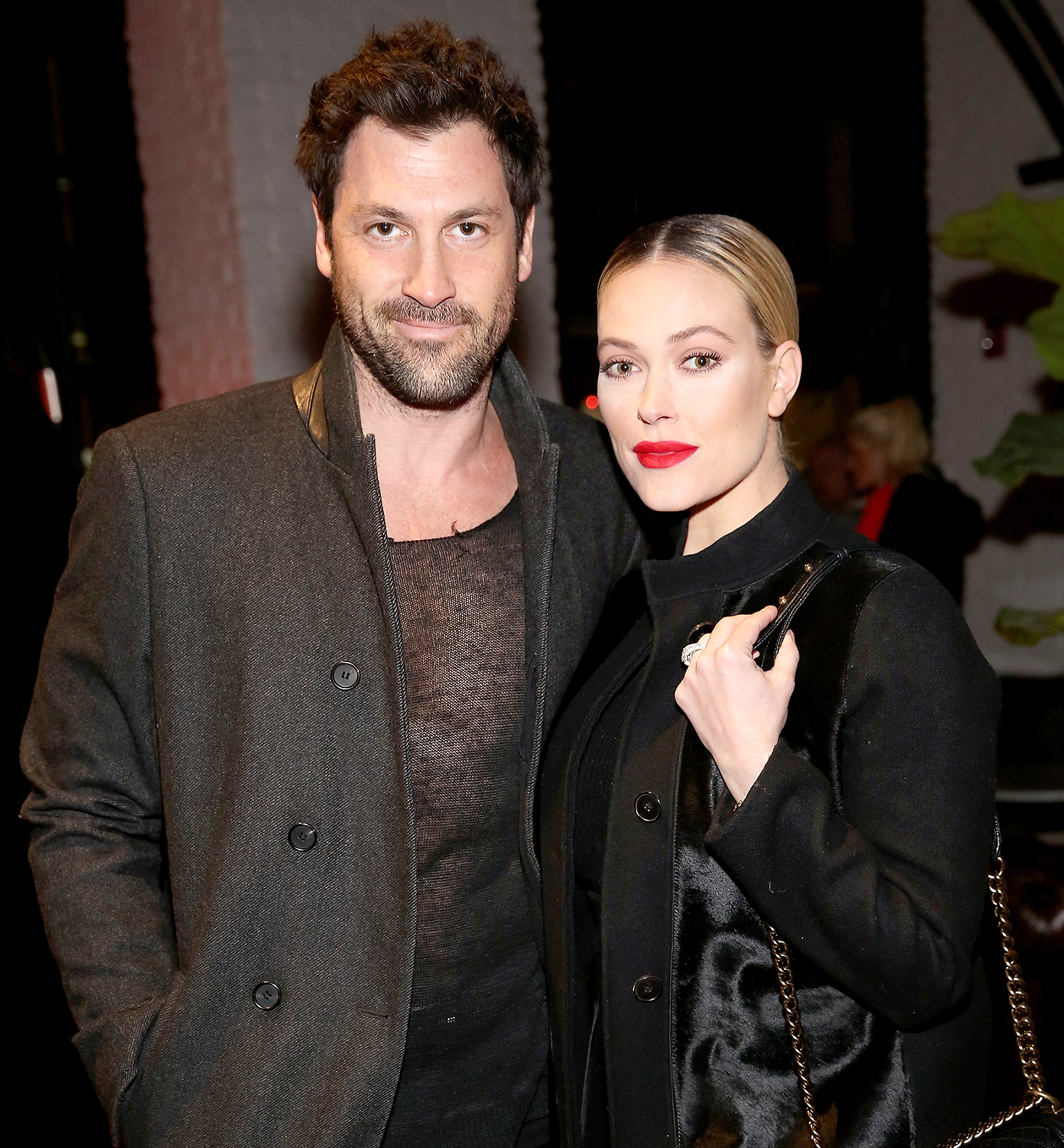 Maksim Chmerkovskiy and Peta Murgatroyd attend the VALENTINNICOLE fashion show during New York Fashion Week at Lovage on February 9, 2017 in New York City.