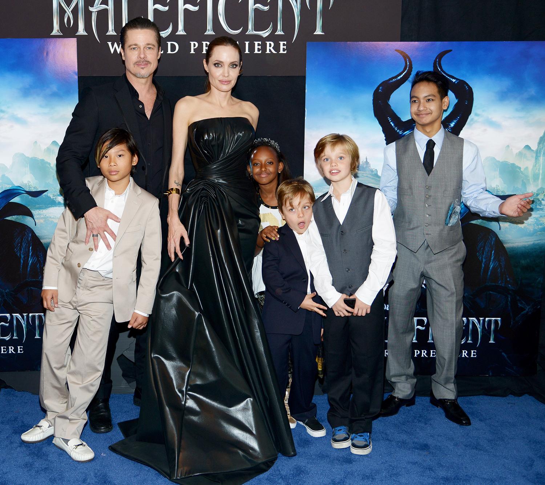 Brad Pitt, Angelina Jolie, Pax Jolie-Pitt, Zahara Jolie-Pitt, Knox Jolie-Pitt, Shiloh Jolie-Pitt and Maddox Jolie-Pitt