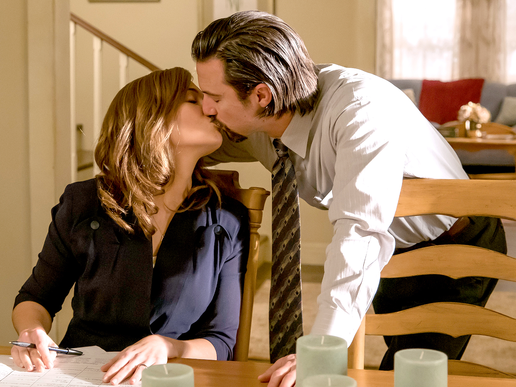 Mandy Moore as Rebecca and Milo Ventimiglia as Jack in This Is Us.