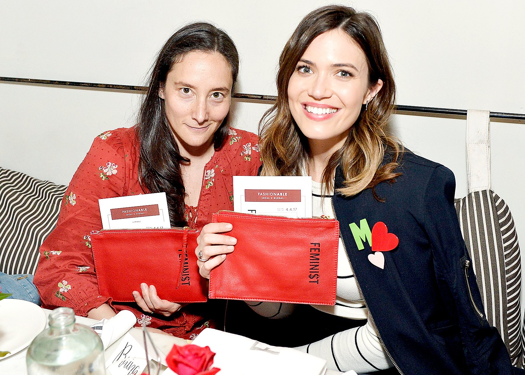 Raina Duhl and Mandy Moore attend Minka Kelly and Barrett Ward Co-Host the FashionABLE Equal Pay Day kick-off Dinner at Gracias Madre on March 29, 2017 in Los Angeles, California.