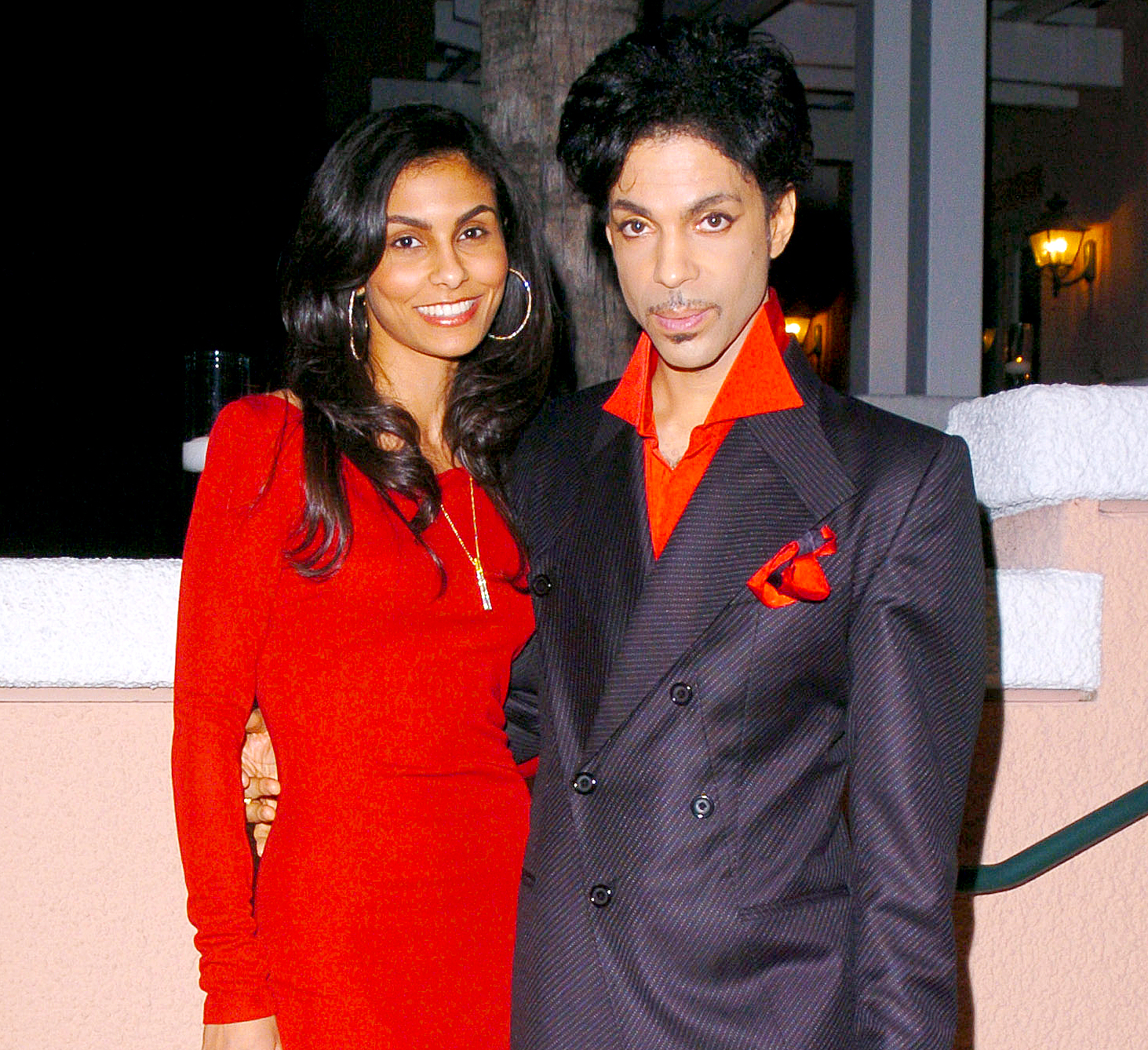 Manuela Testolini and Prince during Clive Davis' 2005 Pre-Grammy Awards Party.