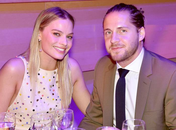 Margot Robbie and Tom Ackerley attend the 2017 'Time' 100 Gala at Jazz at Lincoln Center in New York City on April 25, 2017.