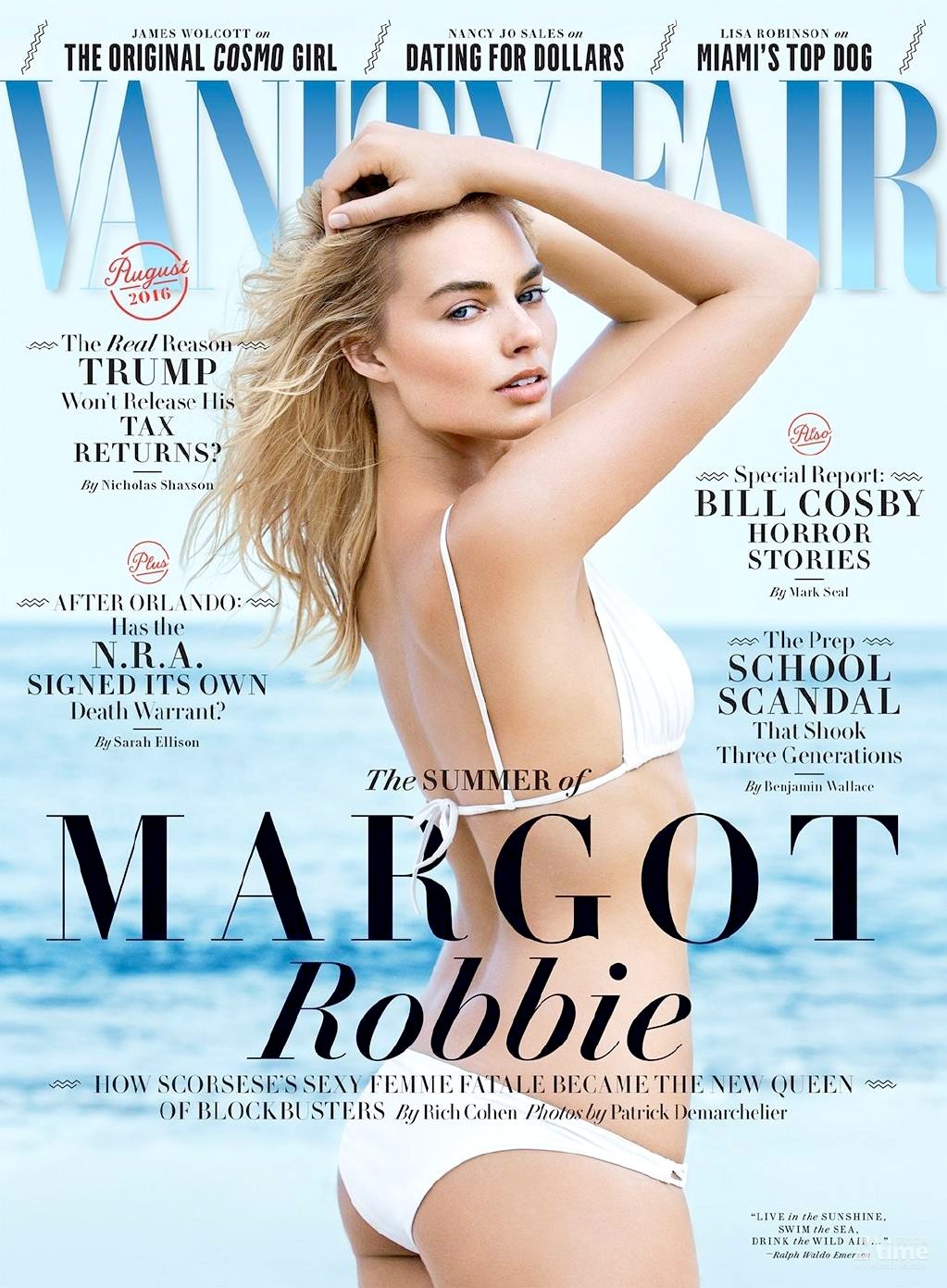 Margot Robbie on the cover of 'Vanity Fair.'