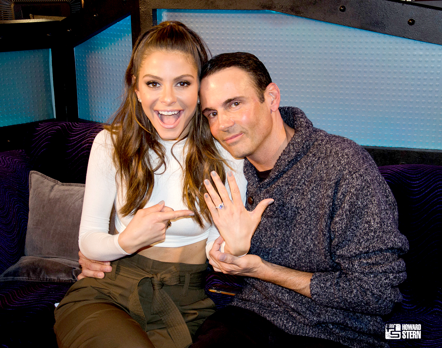 Maria Menounos and Keven Undergaro on The Howard Stern Show.