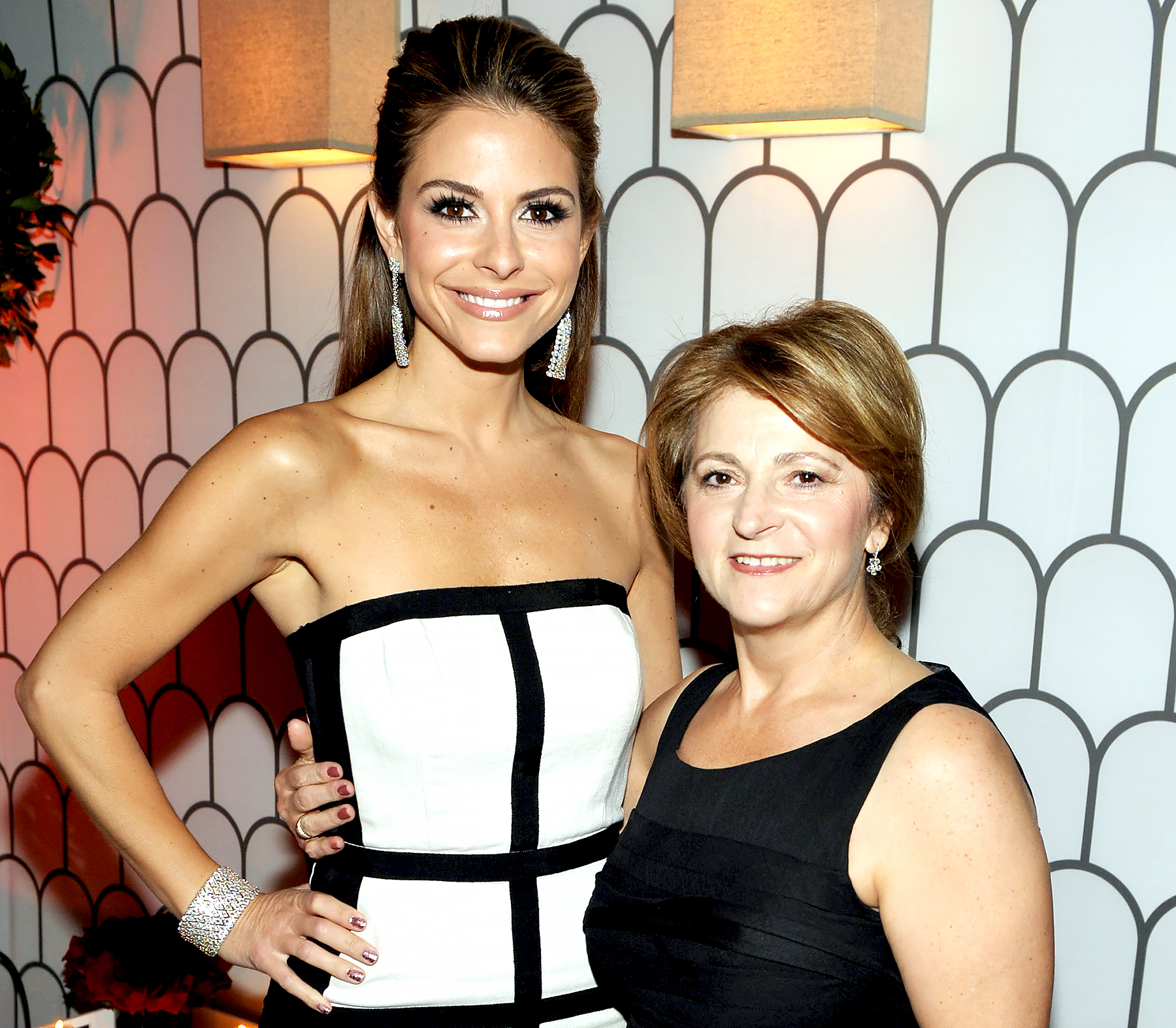 Maria Menounos and Litsa Menounos attend the Kick Off for Golden Globes Week 2012 hosted by Audi and Martin Katz at Cecconi's Restaurant on January 8, 2012 in Los Angeles, California.