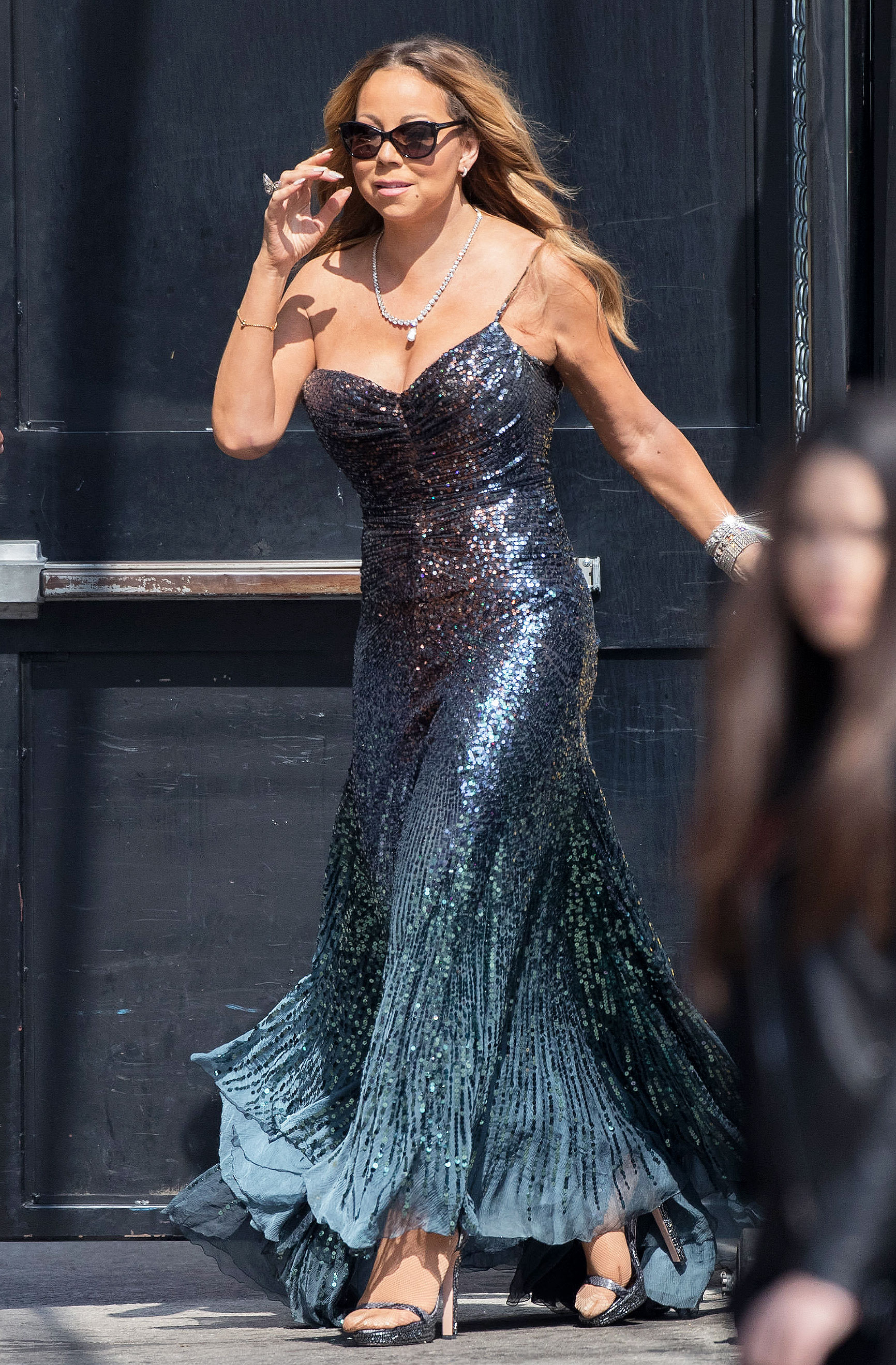 Mariah Carey Wears Two Evening Gowns in Broad Daylight: Street Style