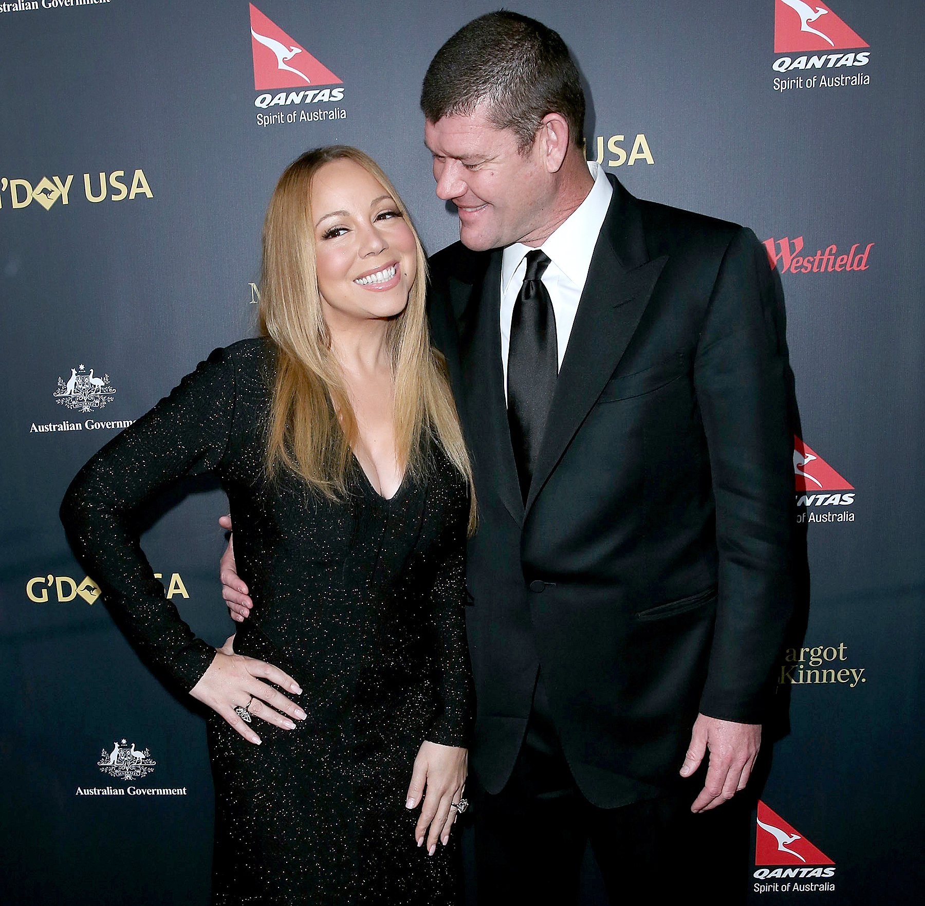 Mariah Carey and James Packer attend the 2016 G'Day Los Angeles Gala at Vibiana on January 28, 2016 in Los Angeles, California.